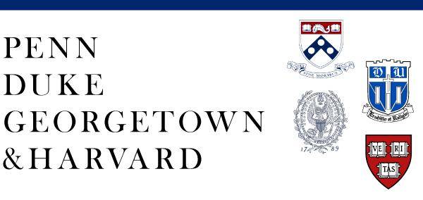 Penn, Duke, Georgetown & Harvard